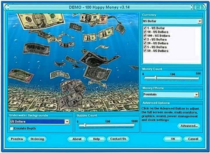 100 Happy Money 3D Screensaver