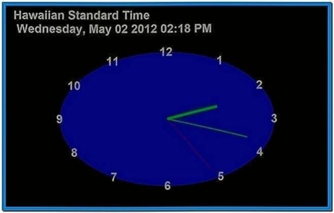 24 tv show clock screensaver