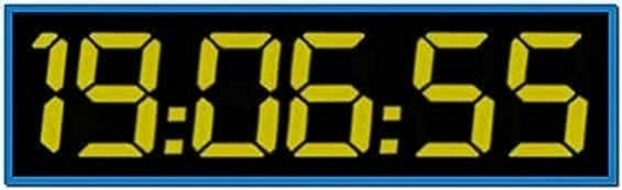 24 TV Show Screensaver Clock Countdown