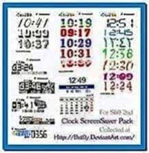 32 Clock Pack Screensavers