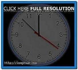 3D Analog Clock Screensaver