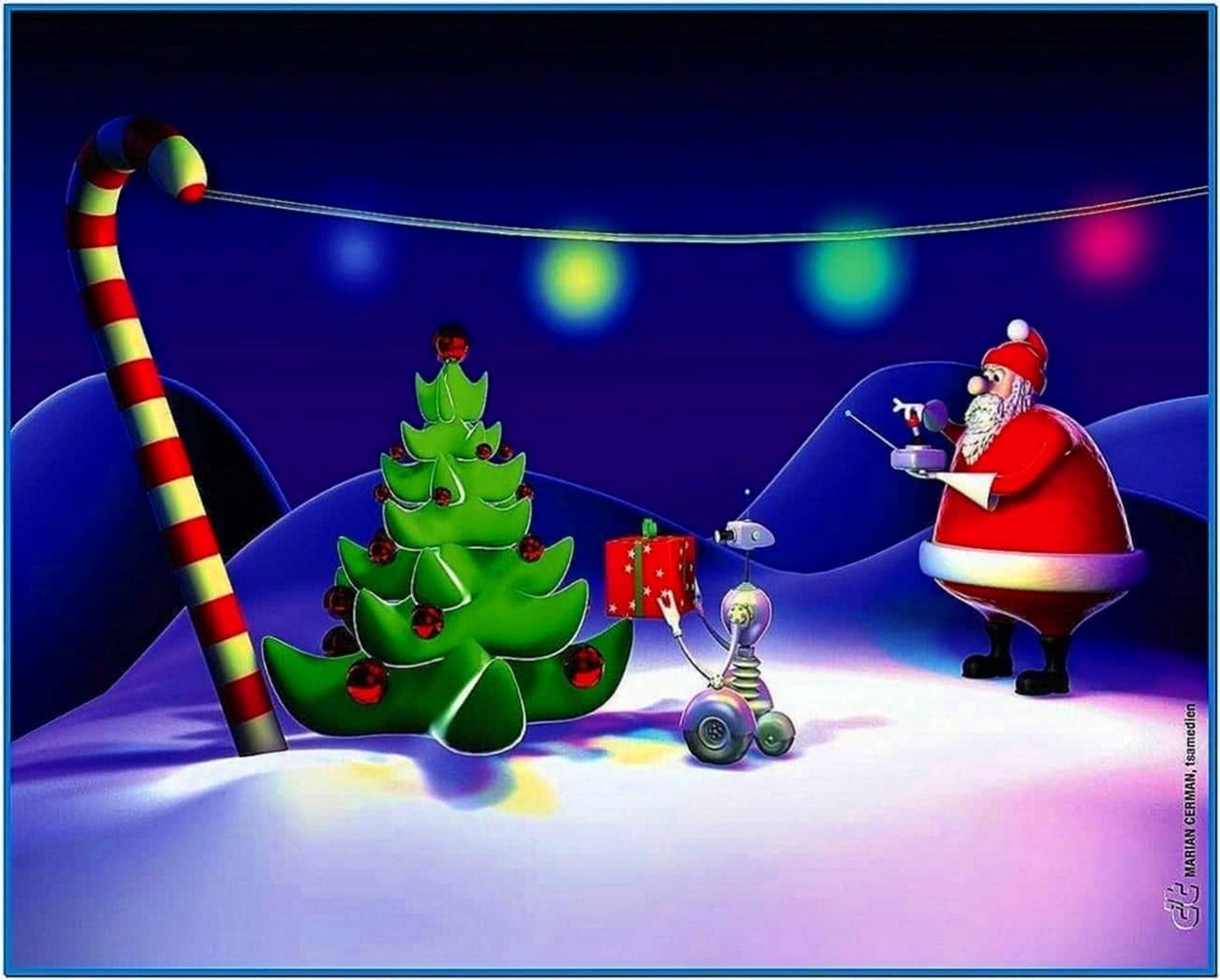 Animated christmas screensavers with music
