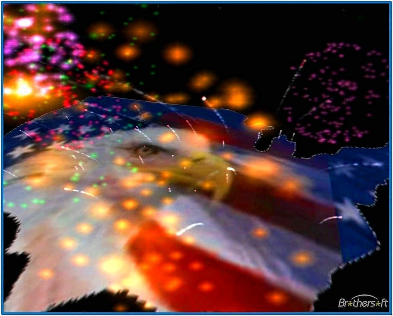 3D Animated Fireworks Screensaver