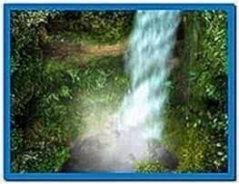 3D Animated Forest Waterfall Screensaver