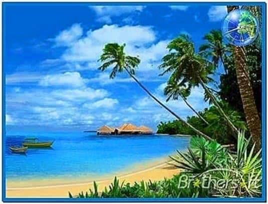 Tropical Island Beach Ambience Sound: 3d Animated Ocean Screensavers