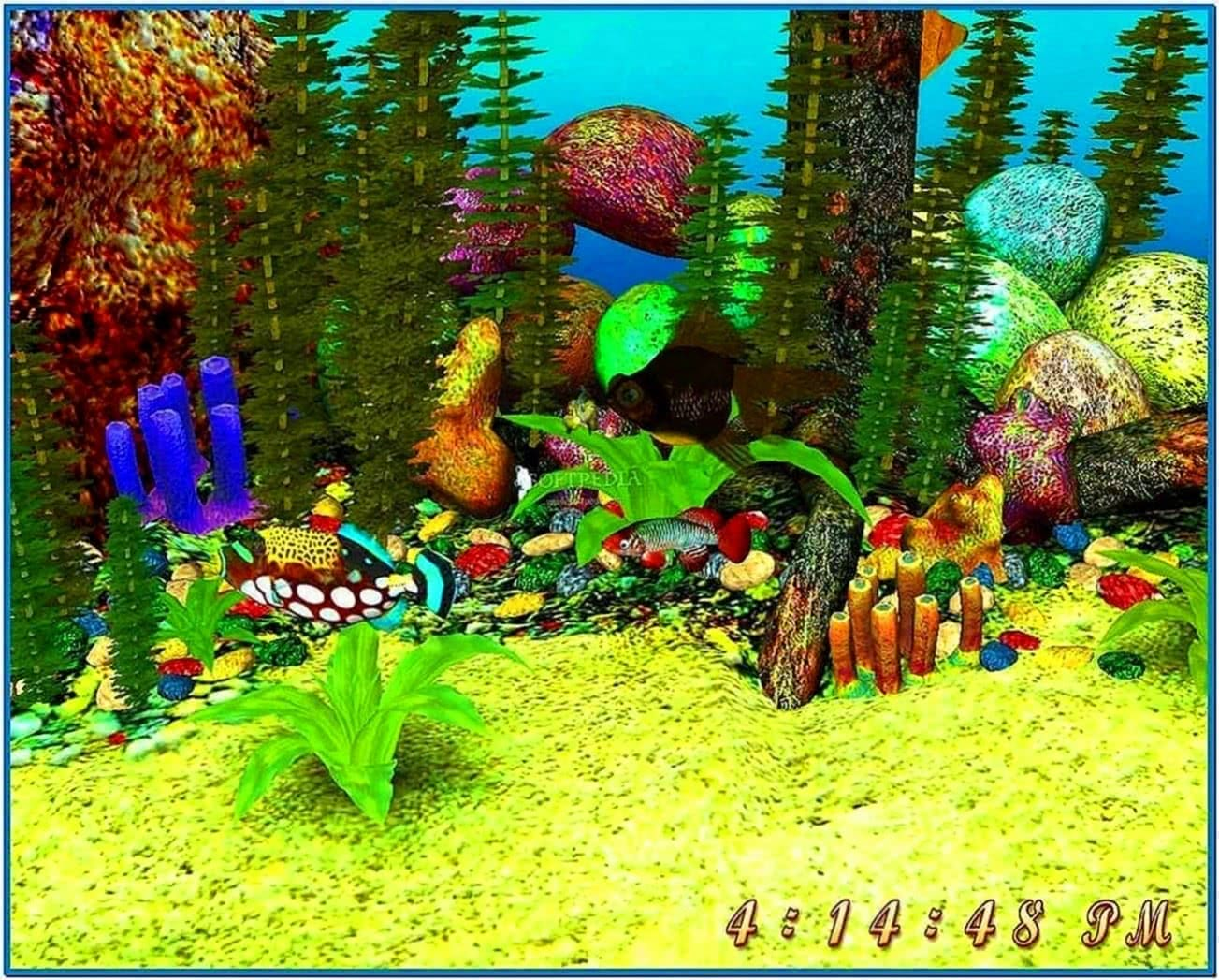 3d aquarium screensaver
