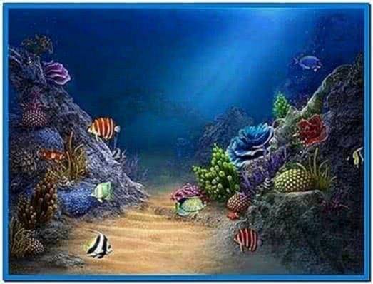 3D Aquarium Screensaver for Mobile