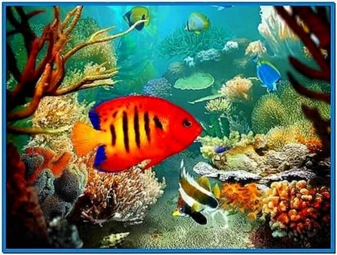 3D Aquarium Screensaver for Mobile