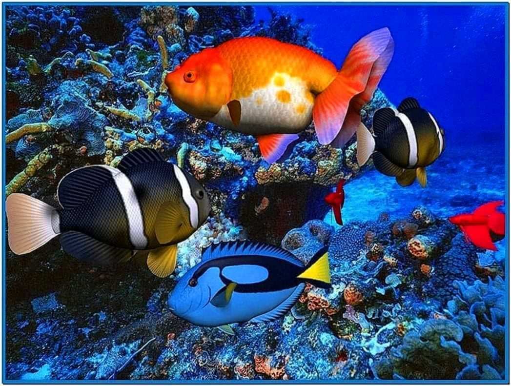 3d aquarium screensaver freeware download free for Desktop fish tank