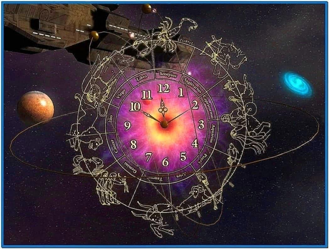 3D Astro Clock Screensaver