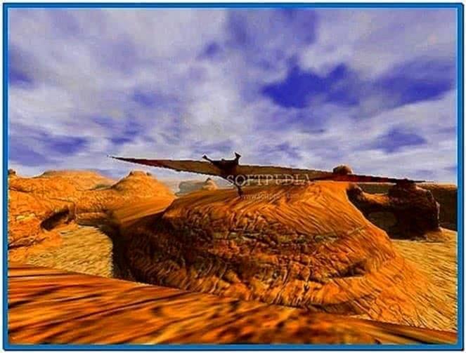 3D Canyon Flight Screensaver 2