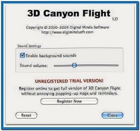 3D Canyon Flight Screensaver Mac