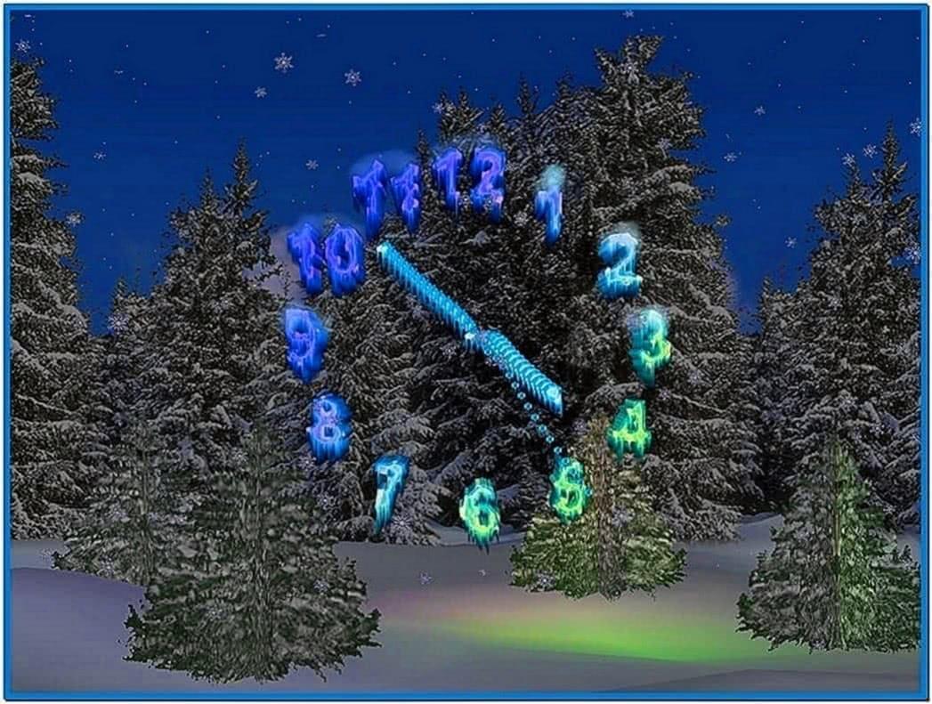 3D Christmas Clock Screensaver