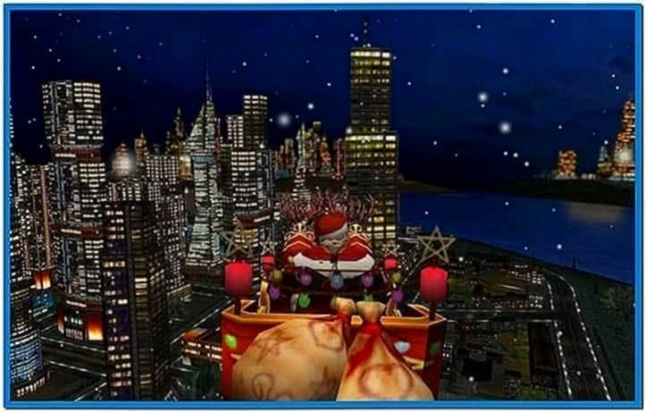 3D Christmas in The City Screensaver