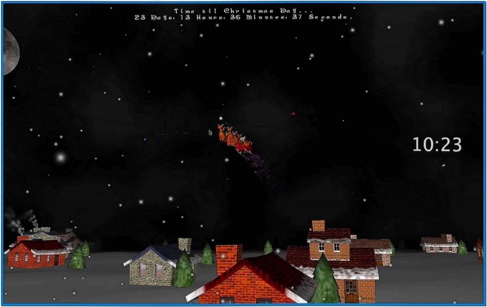 3D Christmas Screensaver Snow