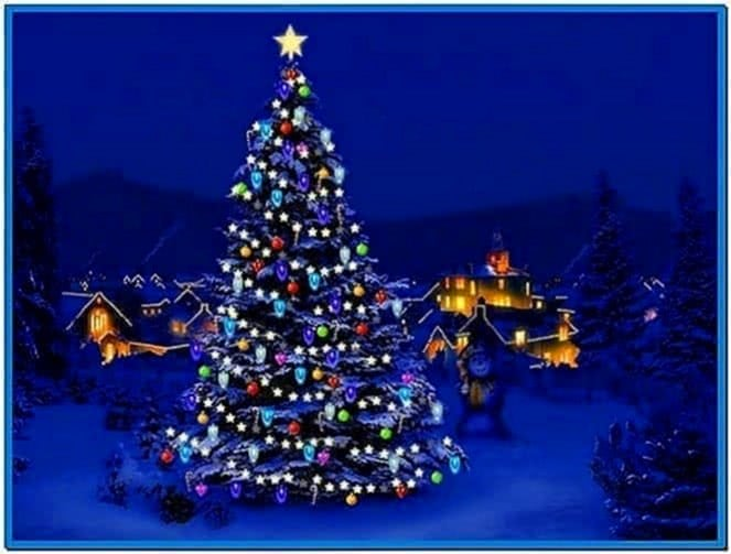 3d Christmas Tree Screensaver Software Card From User