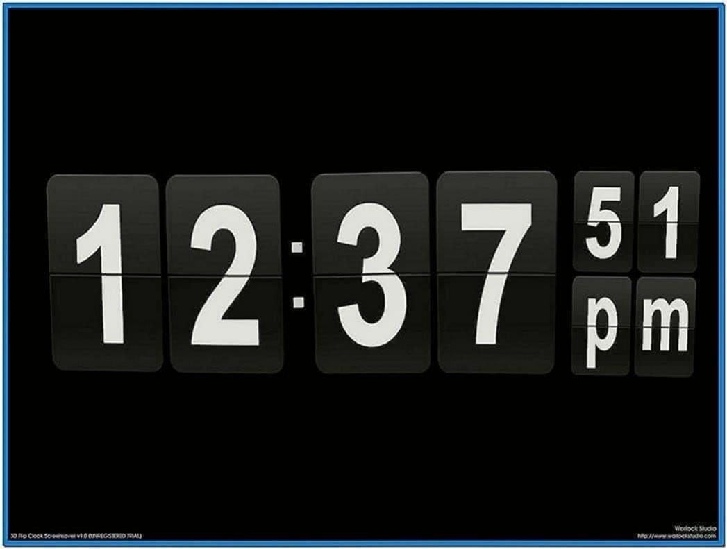 3D Clock Screensaver Software