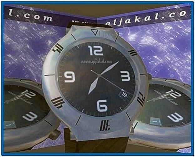 3D Clock Screensaver Software