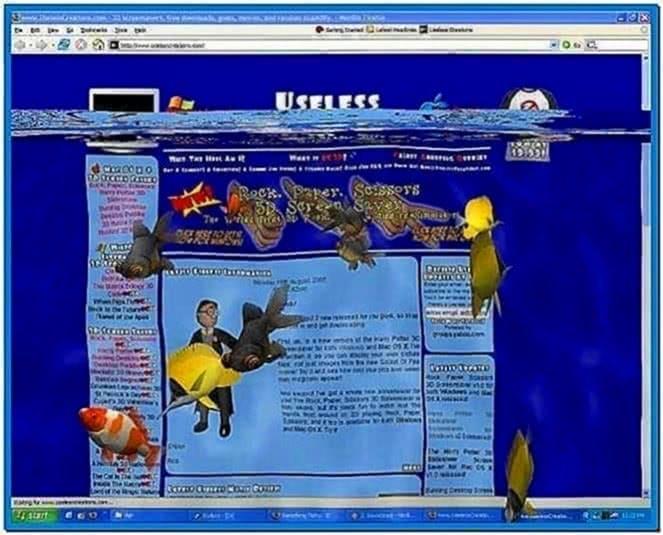 3D Desktop Aquarium Screensaver 1.8 Windows 7