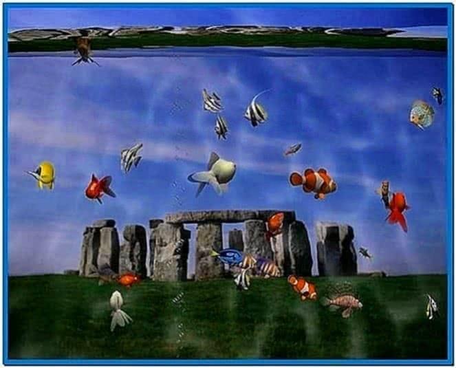 3D Desktop Aquarium Screensaver Windows 7