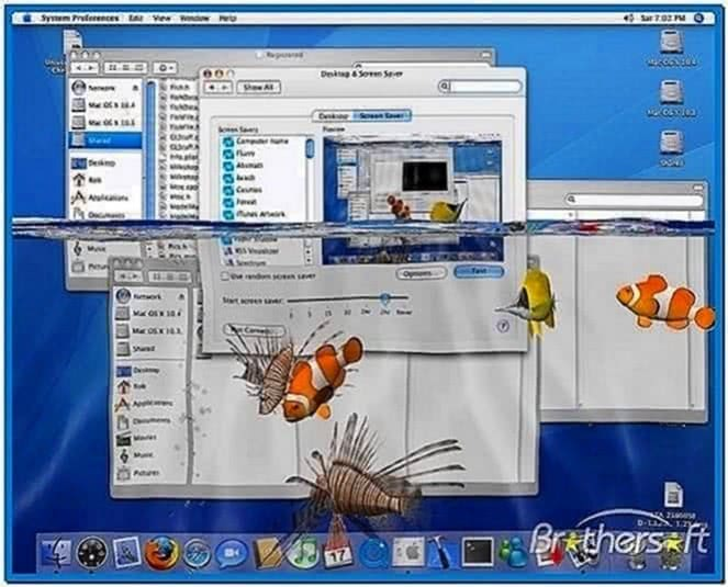 3D Desktop Aquarium Screensaver Windows XP