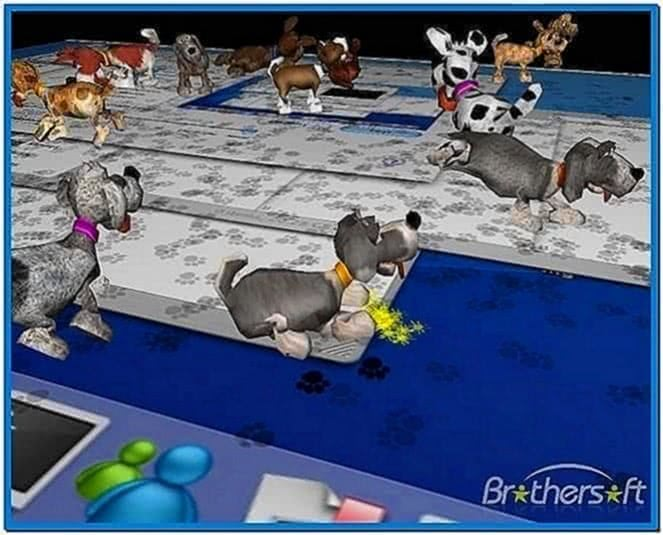 3D Desktop Dogs Screensaver