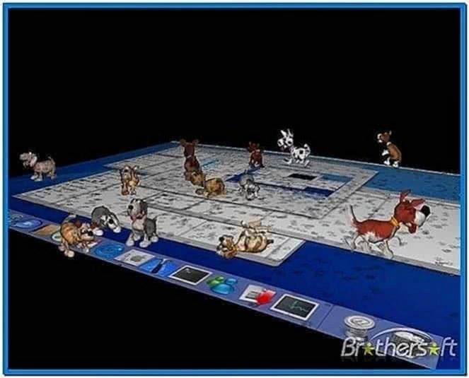 3D Desktop Dogs Screensaver Mac