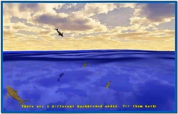 3D Desktop Dolphins Screensaver Mac OS X