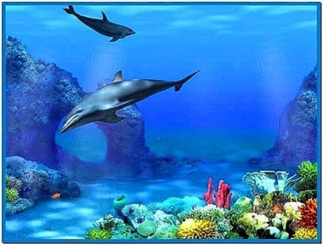 3D Dolphin Screensaver Windows 7