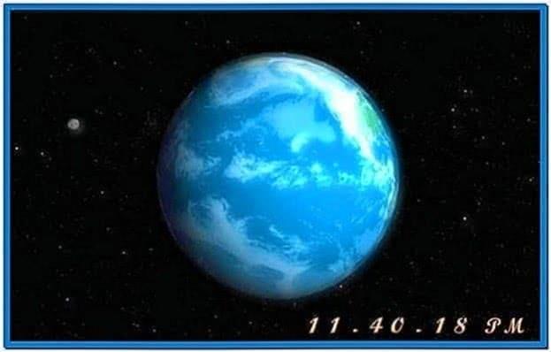 3D Earth Screensaver Deutsch