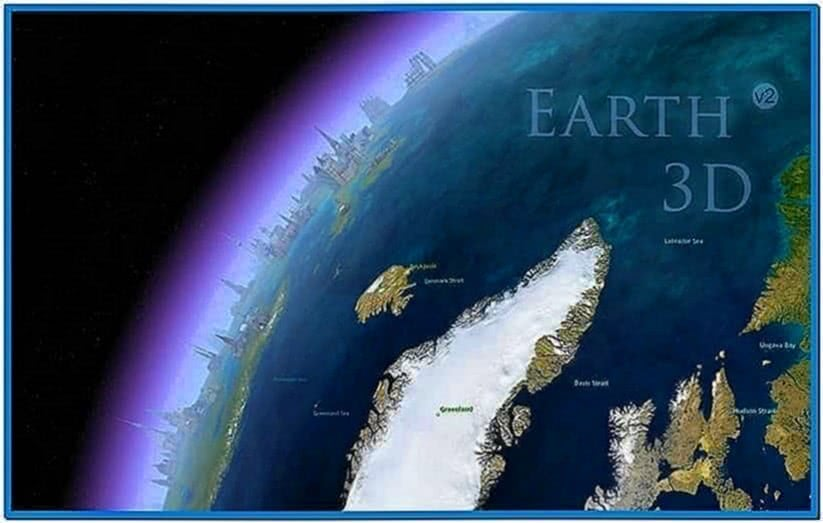3D Earth Screensaver Mac OS X