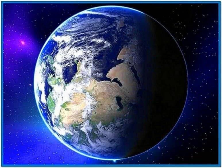 3D Earth Screensaver Version 2.1