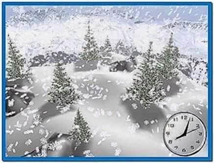 3D Falling Snow Screensaver