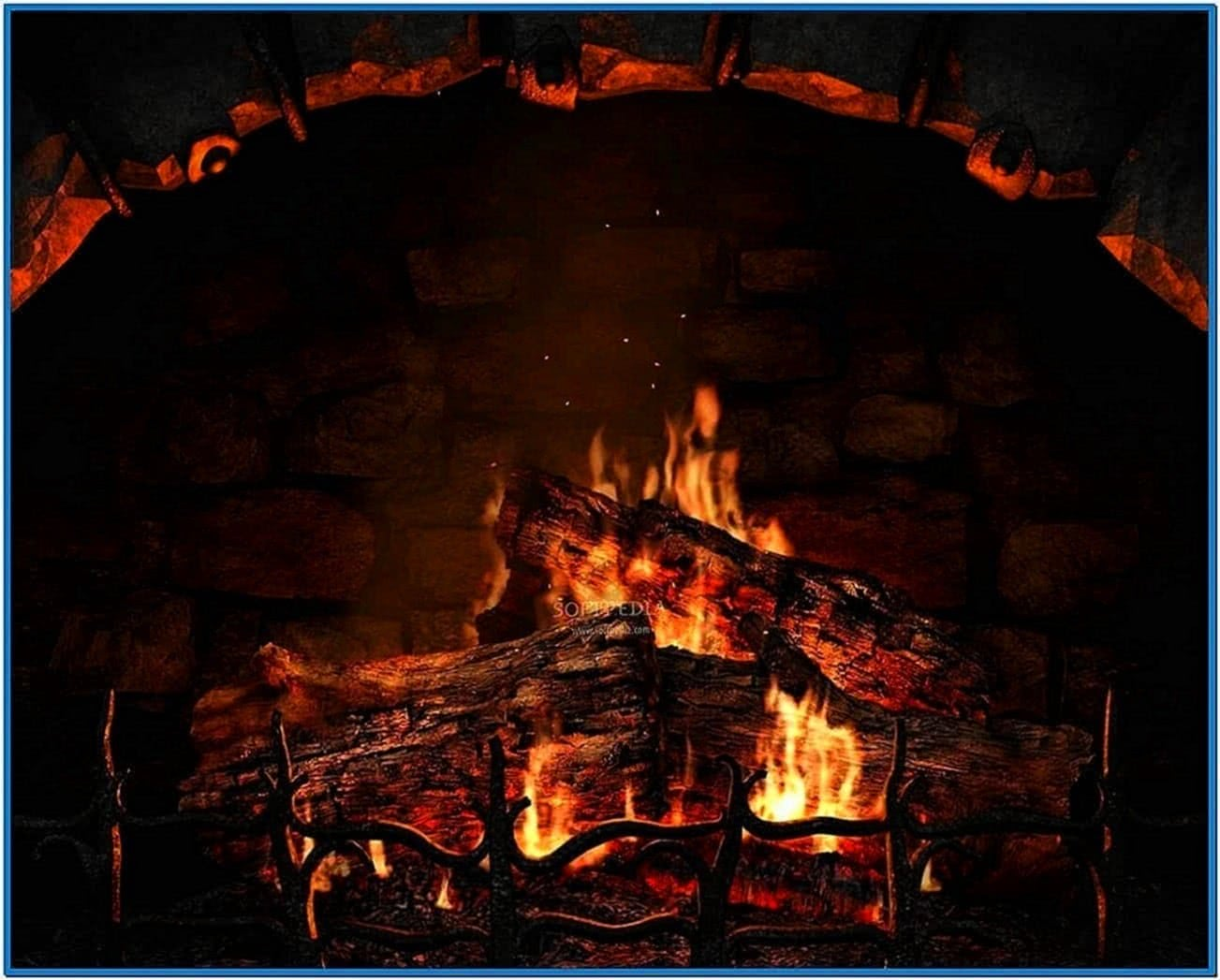 3D Fireplace Screensaver