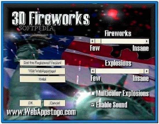 3D Fireworks Screensaver Windows 7