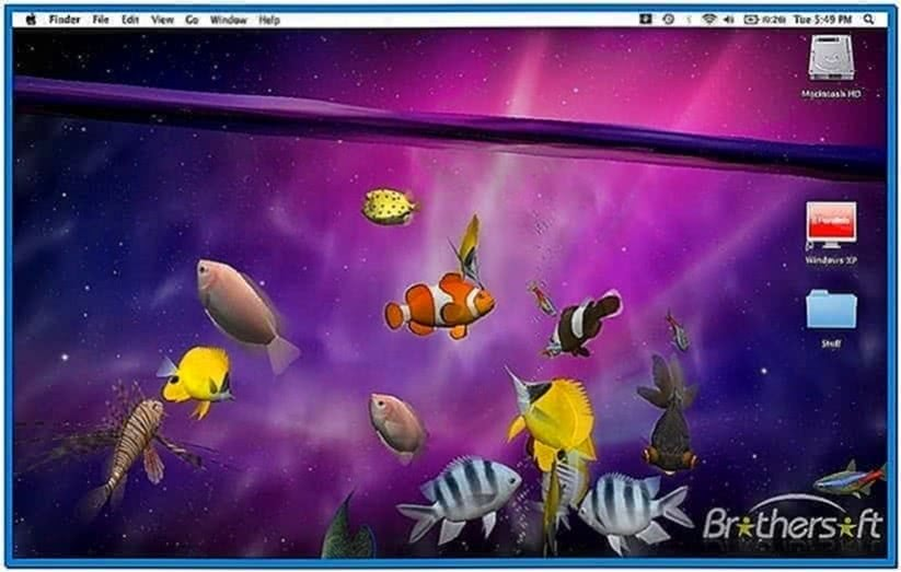 3D Fish Tank Screensaver Mac