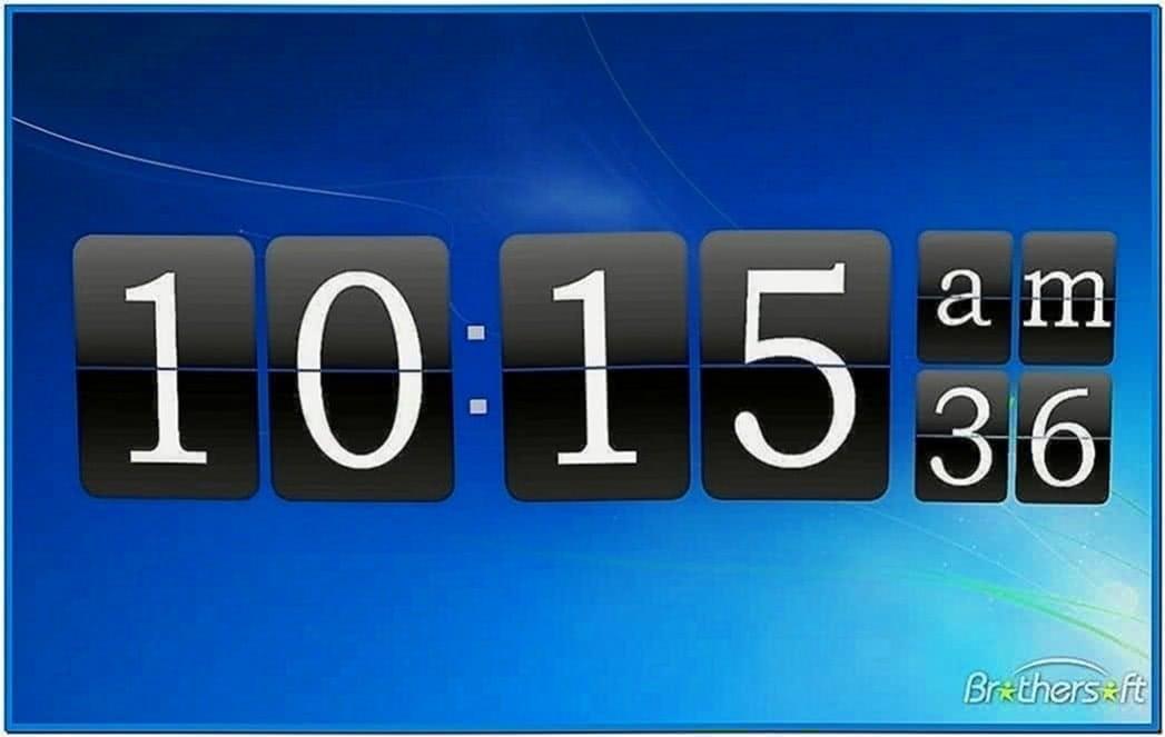 3d flip clock screensaver