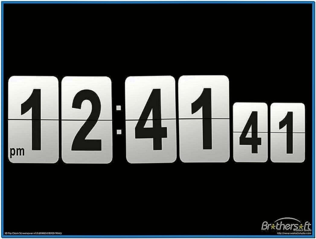3D Flip Clock Screensaver Full Version