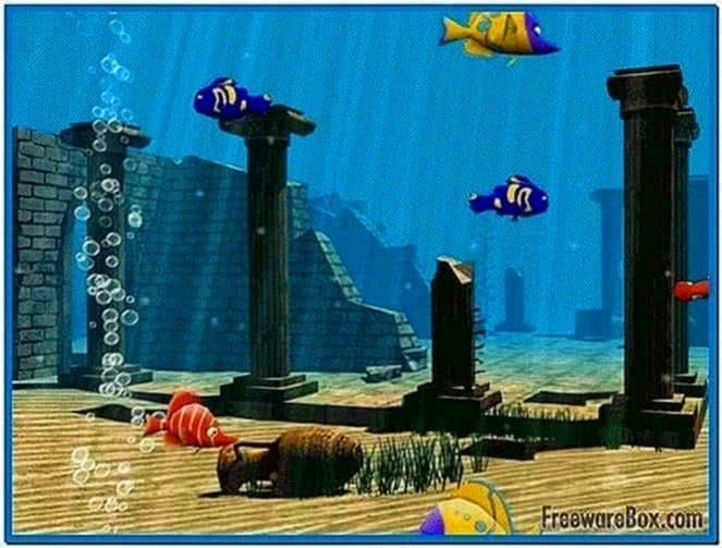 3D Funny Fish Screensaver
