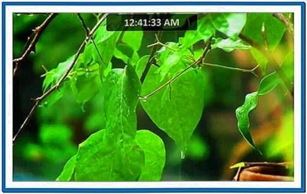 3D Green Rain Screensaver