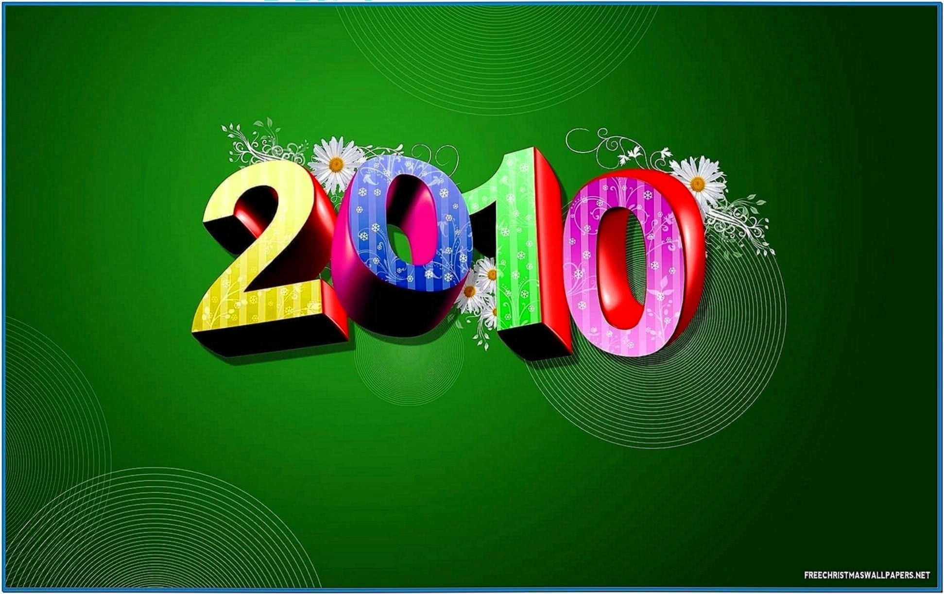3D Happy New Year Screensavers