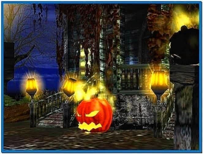 3D Haunted Halloween Screensaver