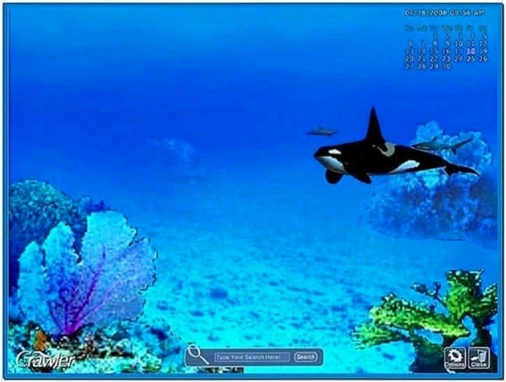 3d marine aquarium screensaver Windows 7