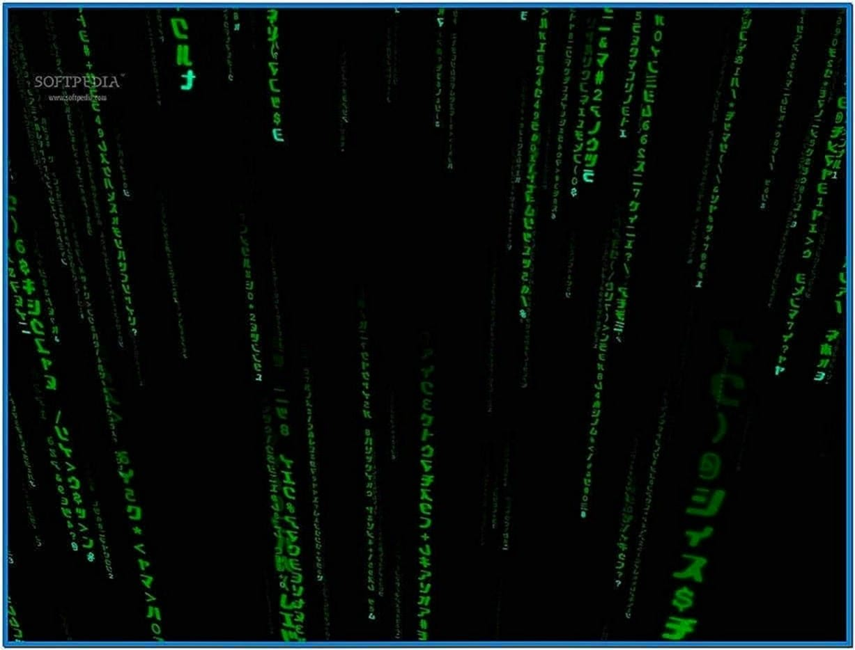 3D Matrix Code Screensaver Windows 7