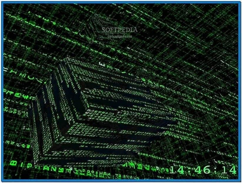 3D Matrix Screensaver Inside The Matrix