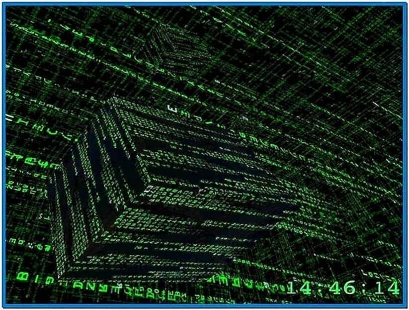 3D Matrix Screensaver Linux