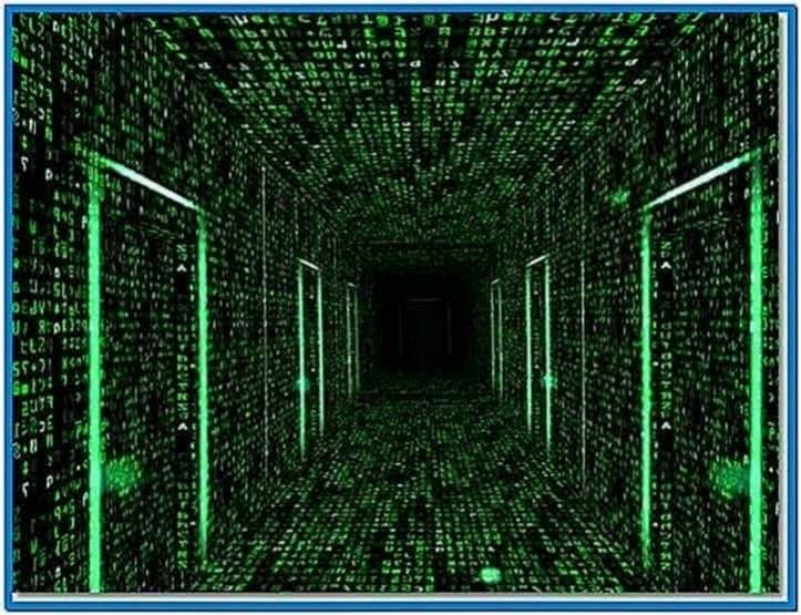 3D Matrix Screensaver The Endless Corridors