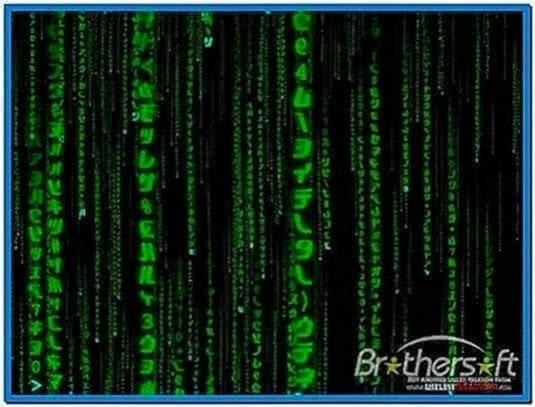 3D Matrix Screensaver Vista