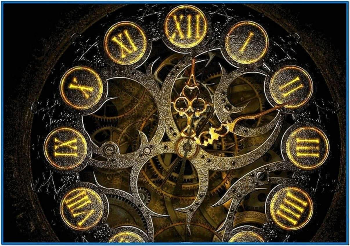 3D Mechanical Clock Screensaver