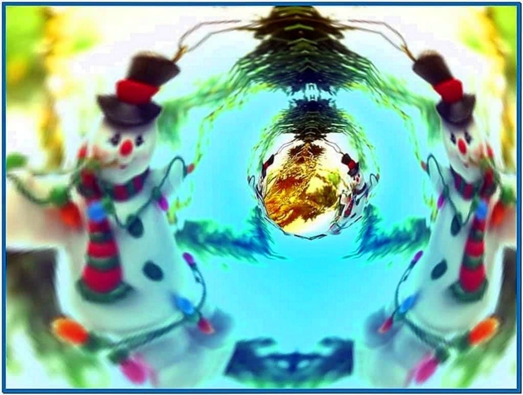 3d merry christmas tunnels screensaver